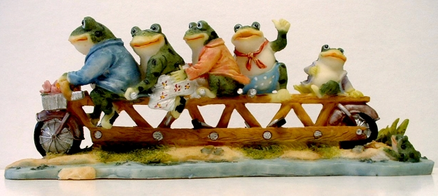 Frog Family on Tandem