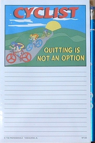 Notepad - Quitting is not an Option